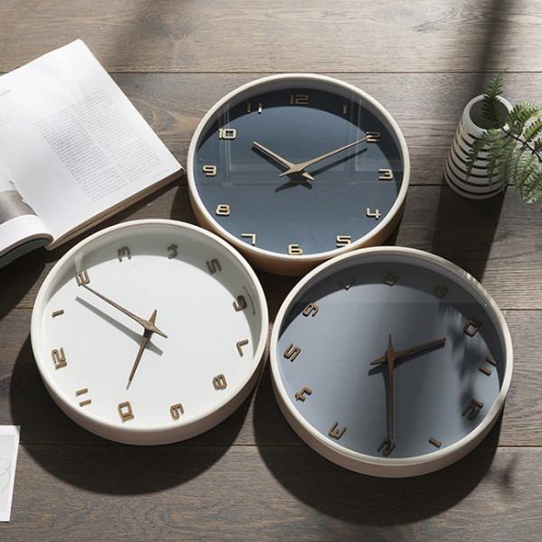 [HC]리얼우드 라운드 30cm 무소음벽시계