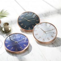 [HC]유니크 메탈 로즈골드 30cm 무소음벽시계