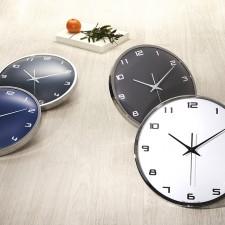[HC]유니크 메탈 크롬 30cm 무소음벽시계